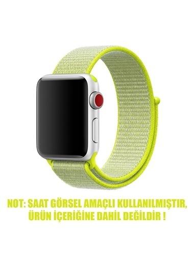 Microsonic Apple Watch SE 40mm Hasırlı Kordon Woven Sport Loop Sarı